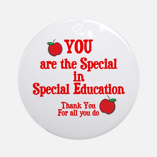 Special Education Ornament (Round)