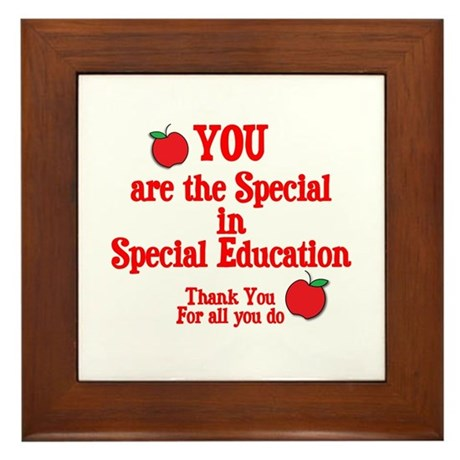 Special Education Framed Tile