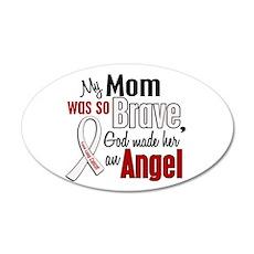 Angel 1 MOM Lung Cancer 20x12 Oval Wall Peel