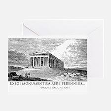 Exegi Monumentum Greeting Card