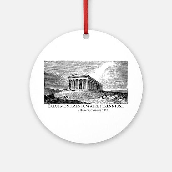 Exegi Monumentum Ornament (Round)