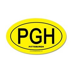 Pittsburgh - Black on Gold Oval - Sticker