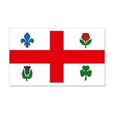Montreal Flag 20x12 Wall Peel