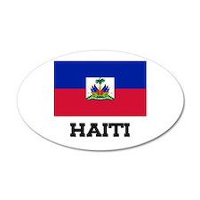 Haiti Flag 20x12 Oval Wall Peel
