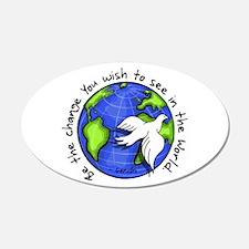World Peace Gandhi - Funky Stroke Decal Wall Sticker