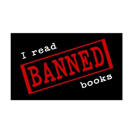 Banned Books 35x21 Wall Peel