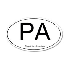 Physician Assistant 20x12 Oval Wall Peel