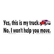 Yes, My Truck 36x11 Wall Peel