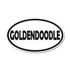 Goldendoodle 20x12 Oval Wall Peel