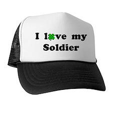 I love my Soldier - lucky clover Trucker Hat