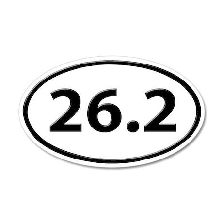 26.2 Marathon Runner Oval 35x21 Oval Wall Peel
