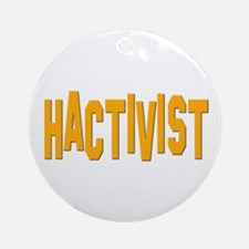 Hactivist Ornament (Round)