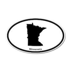 Minnesota State Outline 20x12 Oval Wall Peel
