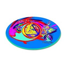 RECOVERY FISH 20x12 Oval Wall Peel