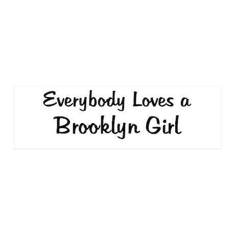 Brooklyn Girl 20x6 Wall Peel