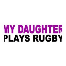 My daughter plays rugby! 36x11 Wall Peel