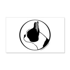 Boston Terrier Head B&W 20x12 Wall Peel