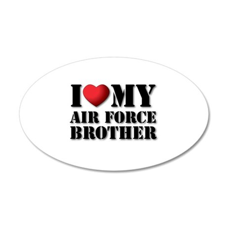 Air Force Brother 35x21 Oval Wall Peel