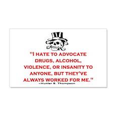 HUNTER S. THOMPSON QUOTE (ORIG) Sticker (Rectangul