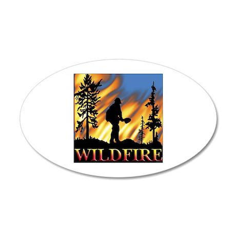 Wildfire 20x12 Oval Wall Peel