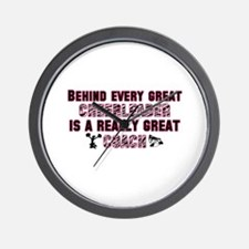 Great Cheer Coach - Pink Zebr Wall Clock