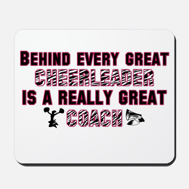 Great Cheer Coach - Pink Zebr Mousepad