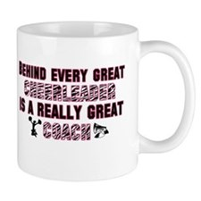 Great Cheer Coach - Pink Zebr Small Mug