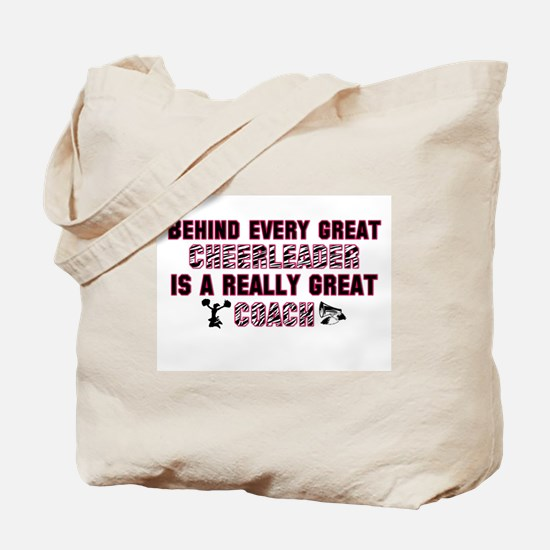 Great Cheer Coach - Pink Zebr Tote Bag