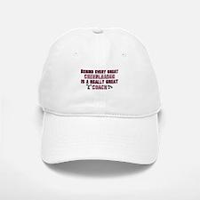 Great Cheer Coach - Pink Zebr Baseball Baseball Cap