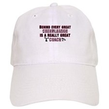 Great Cheer Coach - Pink Zebr Baseball Cap