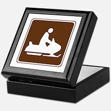 Snowmobiling Sign Keepsake Box