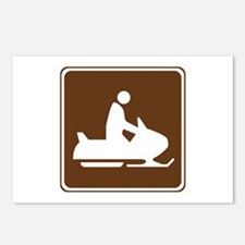 Snowmobiling Sign Postcards (Package of 8)