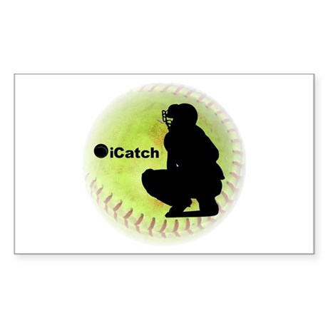 iCatch Fastpitch Softball Sticker (Rectangle)