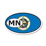 Minnesota State Flag 20x12 Oval Wall Peel