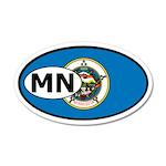 Minnesota State Flag 35x21 Oval Wall Peel