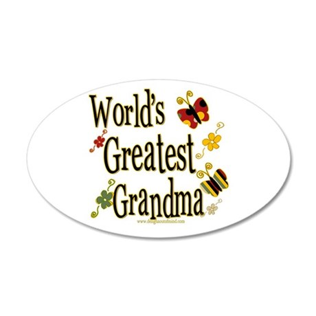 Grandma Butterflies 20x12 Oval Wall Peel