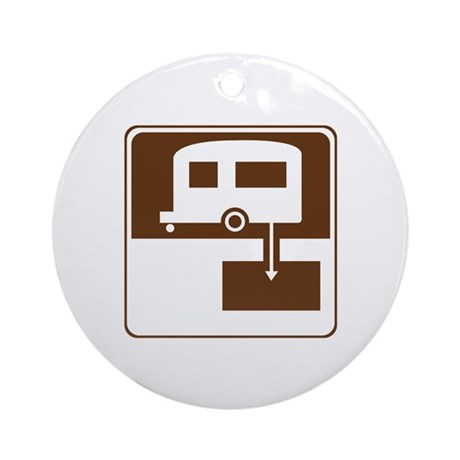 Dump Station Sign Ornament (Round)