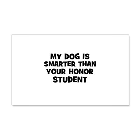 my dog is smarter than your h Sticker (Rectangular