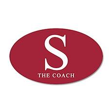 S The Coach 20x12 Oval Wall Peel