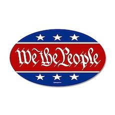 We The People 20x12 Oval Wall Peel