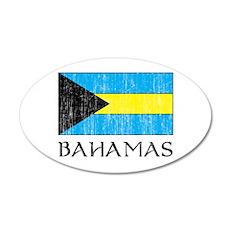 Bahamas Flag 35x21 Oval Wall Peel