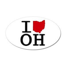 I Heart Ohio 20x12 Oval Wall Peel