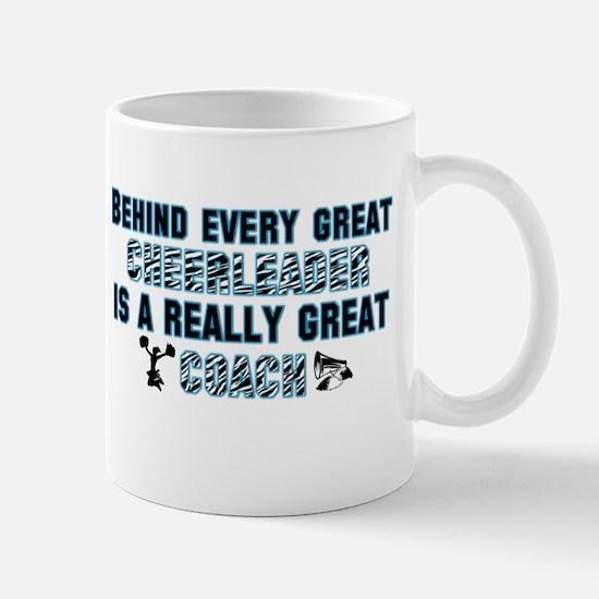Great Cheer Coach - Blue Zebr Mug