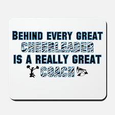 Great Cheer Coach - Blue Zebr Mousepad