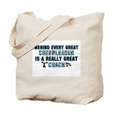 Great Cheer Coach - Blue Zebr Tote Bag