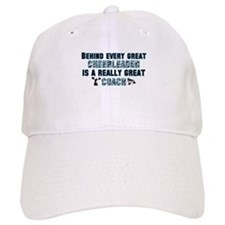 Great Cheer Coach - Blue Zebr Baseball Cap