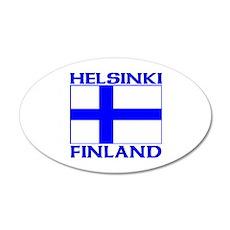 Helsinki, Finland 20x12 Oval Wall Peel