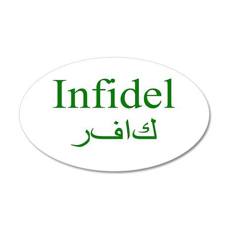 Infidel (green) - 20x12 Oval Wall Peel