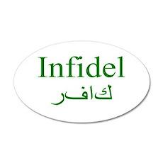 Infidel (green) - 35x21 Oval Wall Peel