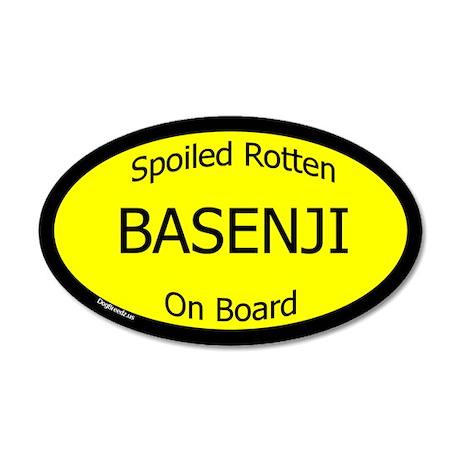 Spoiled Basenji On Board 35x21 Oval Wall Peel